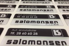 Salomonsen electric labels
